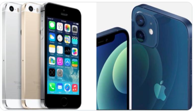 iPhone 12 có thiết kế khá giống iPhone 5