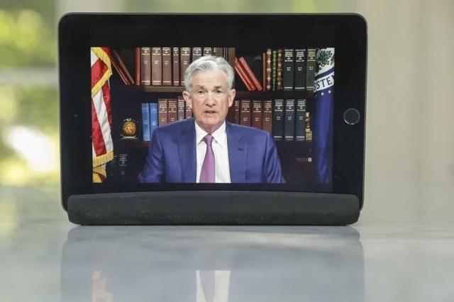 Chủ tịch Fed Jerome Powell phát biểu tại hội nghị chuyên đề Jackson Hole trực tuyến ngày 27/8. Ảnh: Bloomberg.