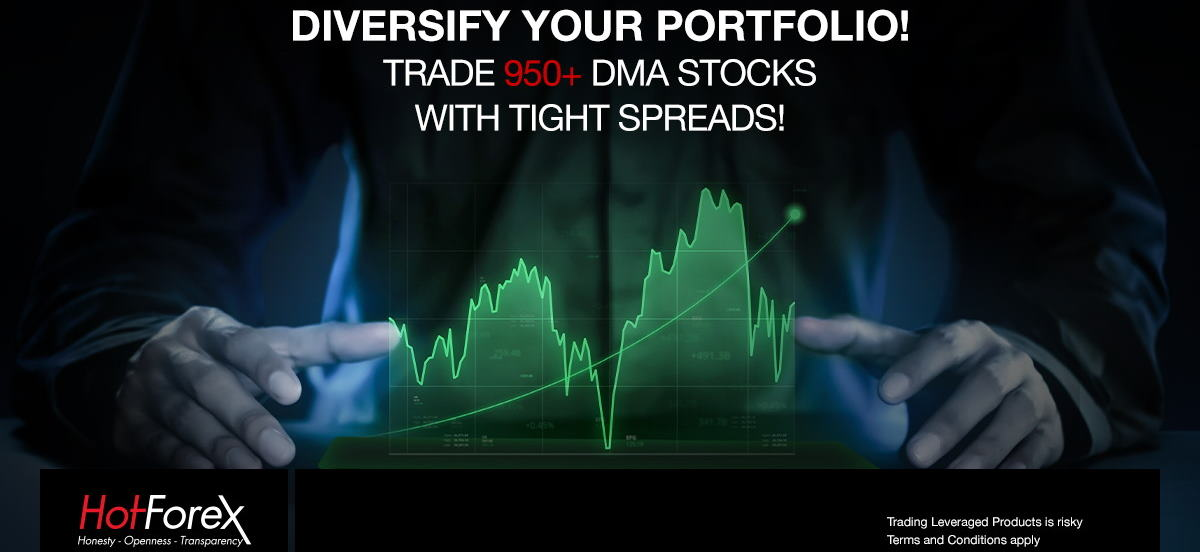 HotForex offers CFD Trading on 900+ DMA Stocks