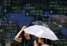 Chứng khoán châu Á giảm khi lãi suất trái phiếu Mỹ tăng