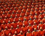 Lực lượng chống dịch xuất hiện trong duyệt binh mừng Quốc khánh Triều Tiên